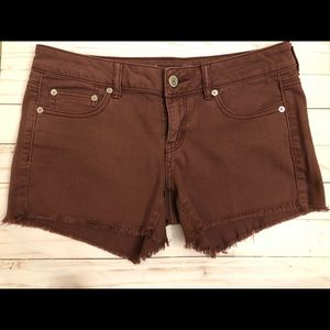 American Eagle shorts, SZ 10, burgundy